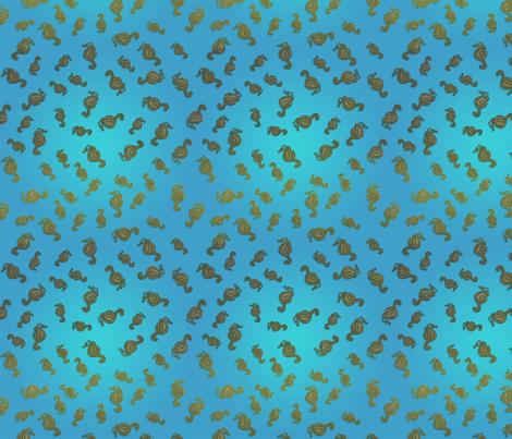 Seahorse Blue Seas fabric by nezumiworld on Spoonflower - custom fabric