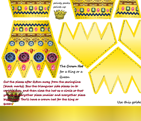the_crown_hat_for_king_or_queen__all_pieces_and_parts fabric by vinkeli on Spoonflower - custom fabric