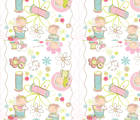 cute sew and sews fabric by cakes_for_breakfast on Spoonflower - custom fabric