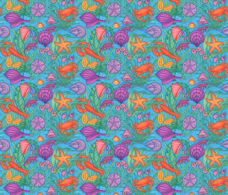 Sea Crustaceans fabric by greenvironment on Spoonflower - custom fabric