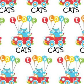 I love cats - balloons