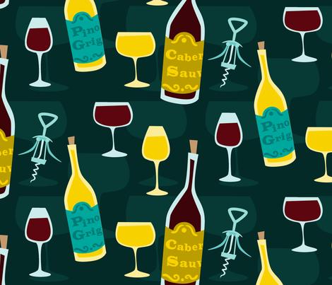 Wine fabric by sparkyfirepants on Spoonflower - custom fabric