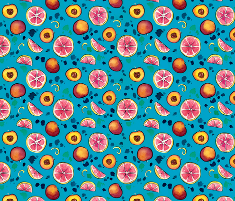My favorite fruits fabric by eloisenarrigan on Spoonflower - custom fabric