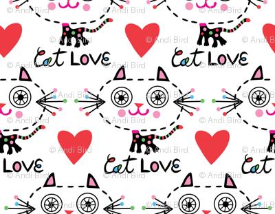 Cat Love - Hearts
