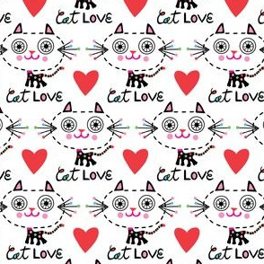 Cat Love - Hearts