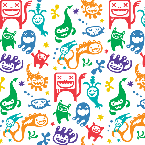 Monsters - Misfits fabric by andibird on Spoonflower - custom fabric