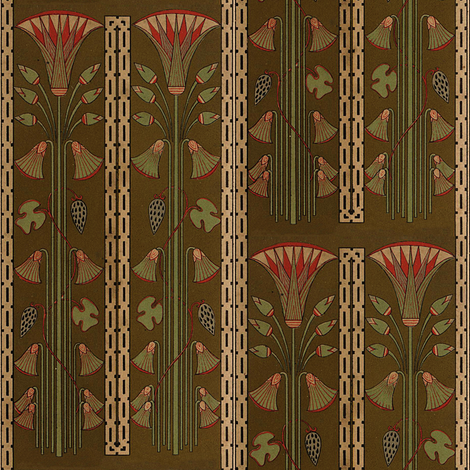 Antique Paper Design Pattern - Page 4 vertical with a half drop fabric by zephyrus_books on Spoonflower - custom fabric