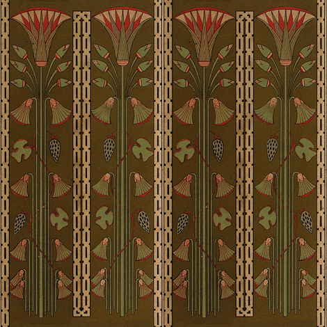 Antique Paper Design Pattern - Page 4 vertical repeating pattern fabric by zephyrus_books on Spoonflower - custom fabric