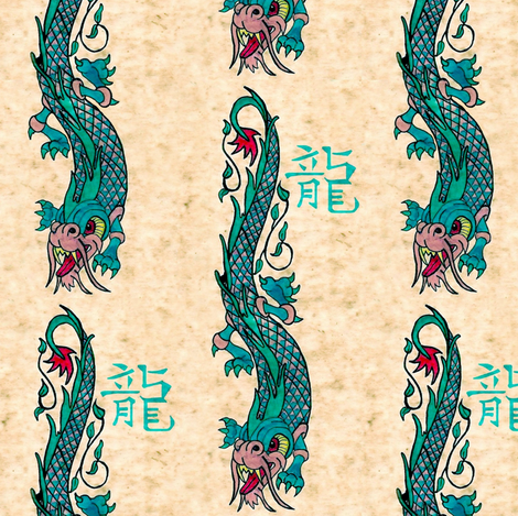 dragon light fabric by paragonstudios on Spoonflower - custom fabric