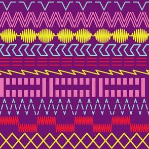 Sewing Machine Stitches on Purple