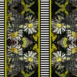 Glamor Bird Border fabric
