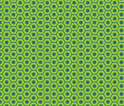 Cuteness Hardware Green fabric by jenimp on Spoonflower - custom fabric