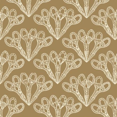 abanico_natural fabric by kirpa on Spoonflower - custom fabric