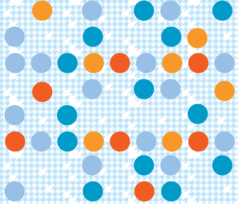 Dotted Houndstooth fabric by kfay on Spoonflower - custom fabric