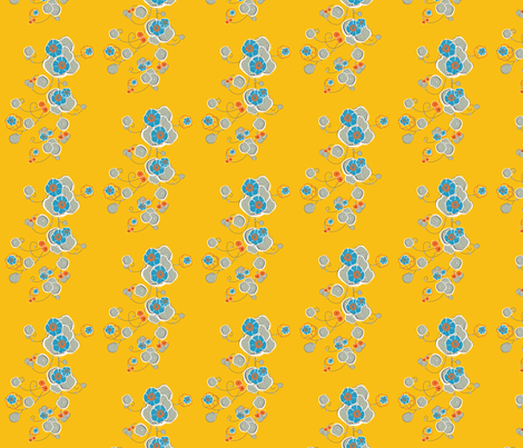 Wandering Wild - Mustard fabric by laurenbritchford-design on Spoonflower - custom fabric