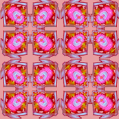Pink Yantra Cross