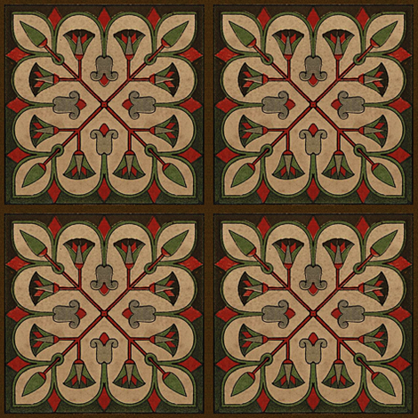 Antique Paper Design Pattern - Page 23 Square Repeat fabric by zephyrus_books on Spoonflower - custom fabric