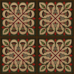 Antique Paper Design Pattern - Page 23 Square Repeat