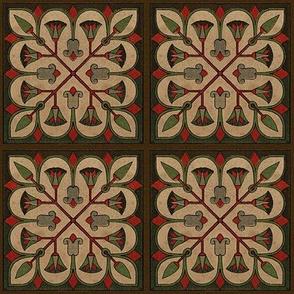 Antique Paper Design Pattern - Page 23 Square Repeat
