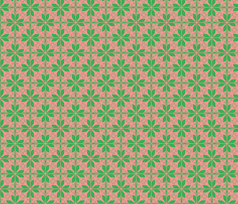jugendstil leafs fabric by studiojelien on Spoonflower - custom fabric