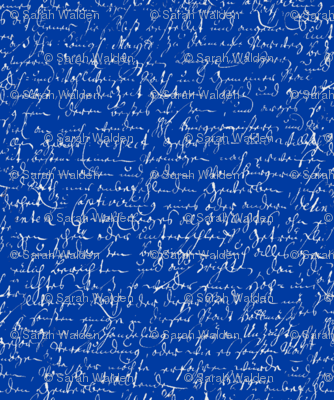 I Thought I'd Write To Juliet... Cobalt Blue & Silver