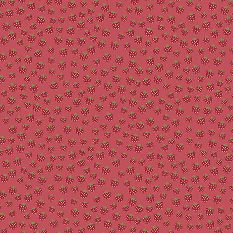 strawberries_dark fabric by owls on Spoonflower - custom fabric