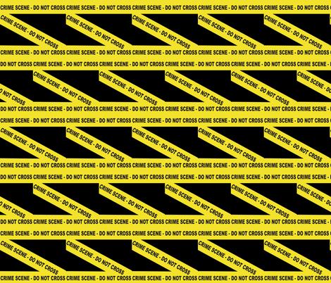 CRIME SCENE-DO NOT CROSS fabric by bluevelvet on Spoonflower - custom fabric