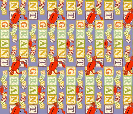 Baby Grant Alpha Blocks fabric by cksstudio80 on Spoonflower - custom fabric