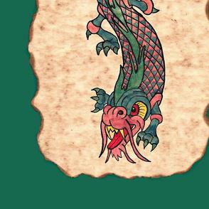 Dragon ink mural