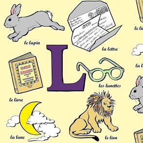 La lettre L en jaune