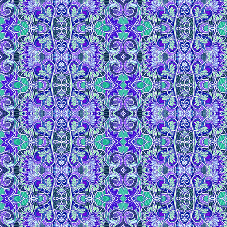 Garden of Blue Hearts fabric by edsel2084 on Spoonflower - custom fabric