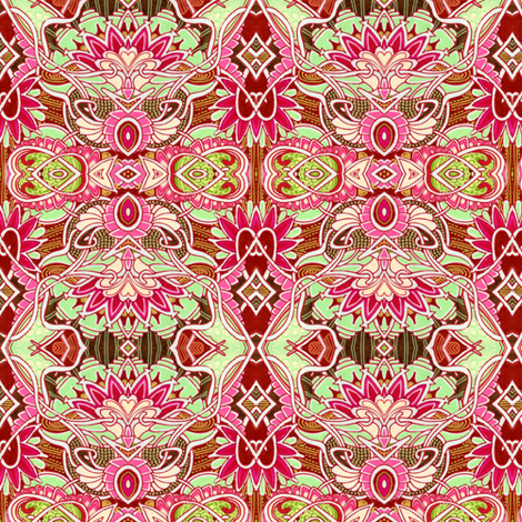Water Lily Valentine fabric by edsel2084 on Spoonflower - custom fabric