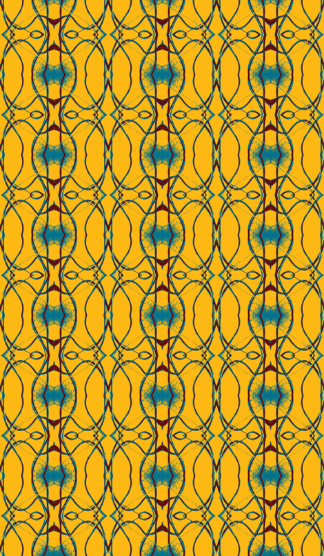Old San Antonio Faux Grillwork fabric by susaninparis on Spoonflower - custom fabric