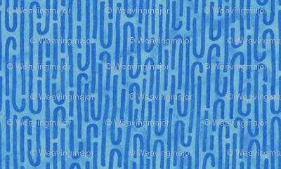 mitochondria blue background