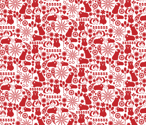 I love red guinea pigs fabric by ebygomm on Spoonflower - custom fabric