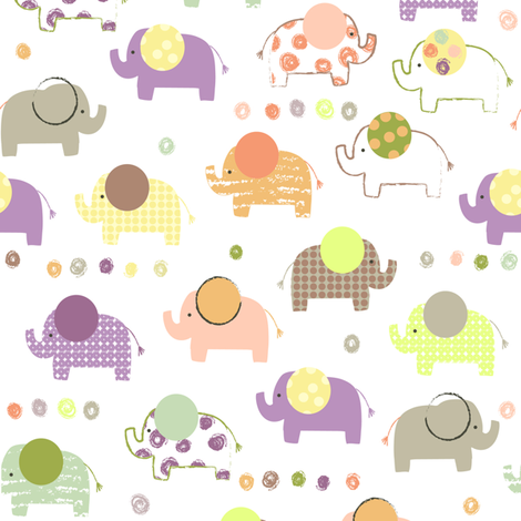 Elephants fabric by amy_schimler-safford on Spoonflower - custom fabric