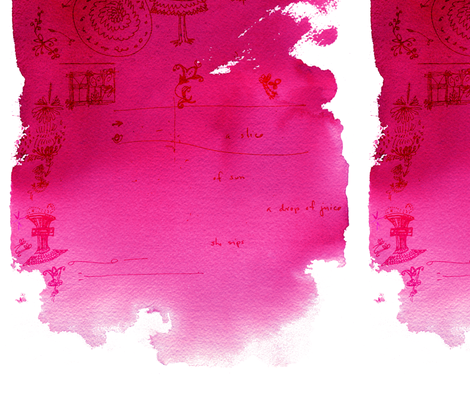 cestlaviv_pink puddle fabric by cest_la_viv on Spoonflower - custom fabric