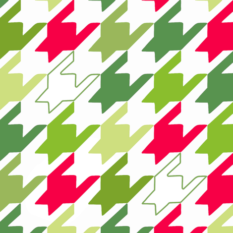 Holiday Houndstooth fabric by pattysloniger on Spoonflower - custom fabric