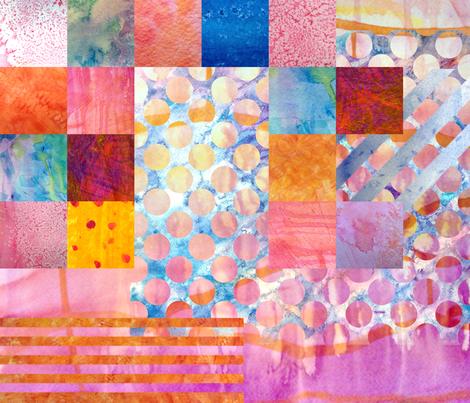 Painting Sampler fabric by omahaha on Spoonflower - custom fabric