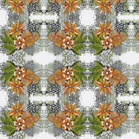 peachy flowers fabric by fallingladies on Spoonflower - custom fabric