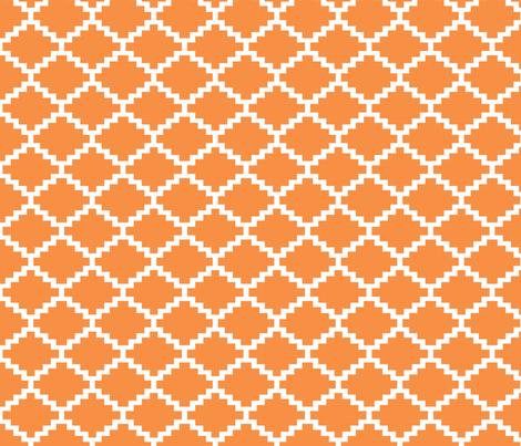 RickRack_tangerine fabric by walrus_studio on Spoonflower - custom fabric