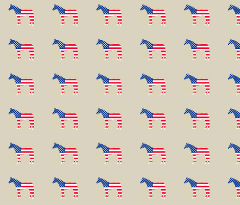 horseusflag fabric by ragan on Spoonflower - custom fabric