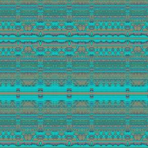 Aqua Static Stripe