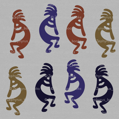 Kokopelli Group of Flute Playing Figures