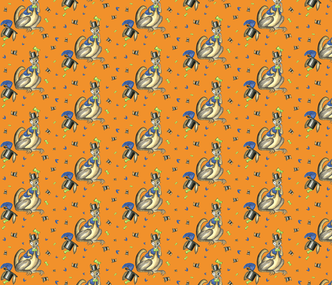 Wallaby_confused fabric by suzhar on Spoonflower - custom fabric