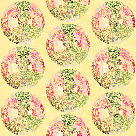 Dot circles on rich cream by Su_G fabric by su_g on Spoonflower - custom fabric