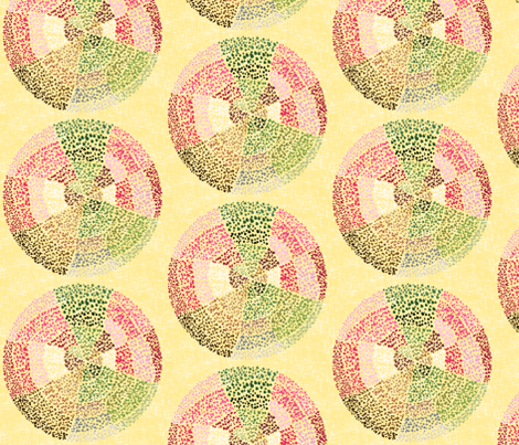 (NOW LARGER) Dot circles on rich cream by Su_G fabric by su_g on Spoonflower - custom fabric