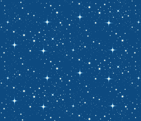 BEDTIME STARS fabric by bluevelvet on Spoonflower - custom fabric
