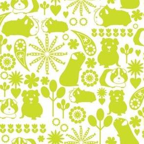 I love green guinea pigs