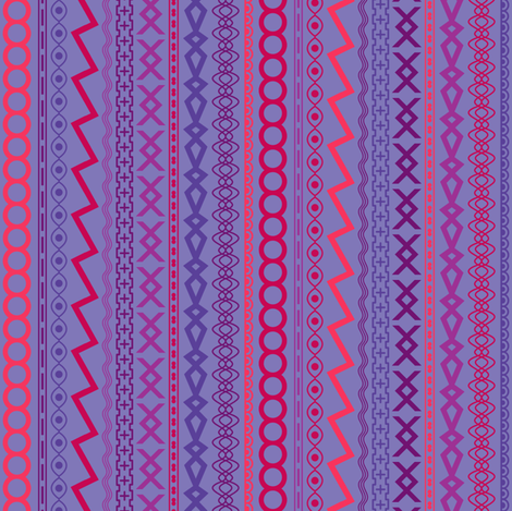 Ribbons (Piccadilly Punch) fabric by leighr on Spoonflower - custom fabric